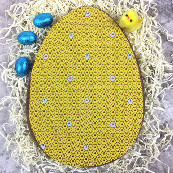 Large Chocolate Easter Egg Yellow Eggs