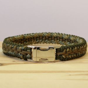 Military Style Camouflage Paracord Dog Collar - dogs
