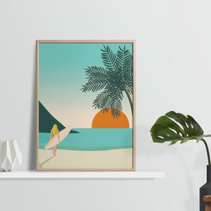 Time To Surf, Beach Art Print - nature & landscape