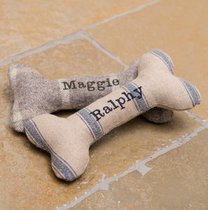 Personalised Squeaky Bone Dog Toys - toys