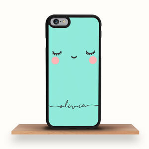 Personalised Green Kawaii iPhone Case