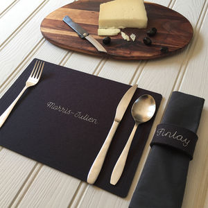Family Wool Felt Table Mats - placemats & coasters
