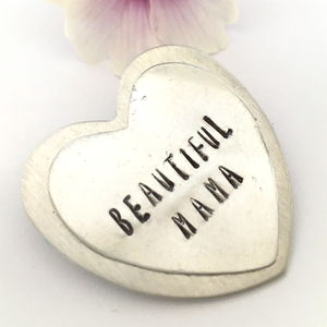 Personalised Heart Friendship Brooch - pins & brooches