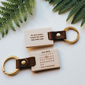 Personalised Never Forget Calendar Keyring - for her