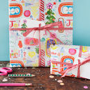 Joy to the world wrapping paper for a Christmas present
