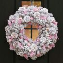 Winter Sparkle Pink Christmas Door Wreath