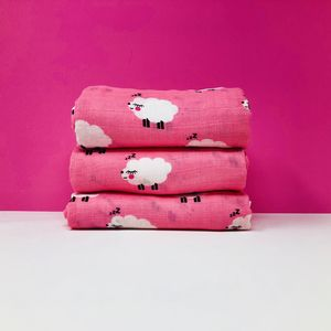 Pink Muslin Swaddles
