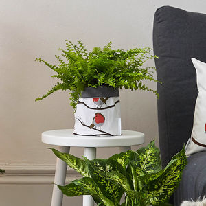 Christmas Robin Storage And Plant Pot - gifts for mothers