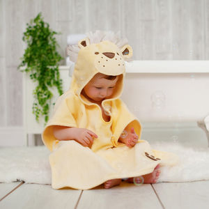 Personalised Dandy Lion Children Poncho Towel