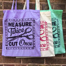 Dressmaking And Sewing Cotton Tote Shopping Bag
