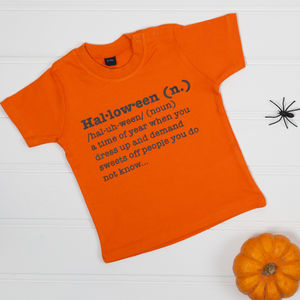 Halloween Definition T Shirt - fancy dress for babies & children