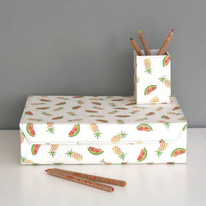 Recycled Pineapple And Watermelon Design A4 Box