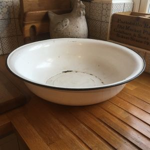 Vintage Giant Enamel Bowl - fruit bowls