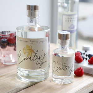 Personalised Birth Flower Granite North Gin