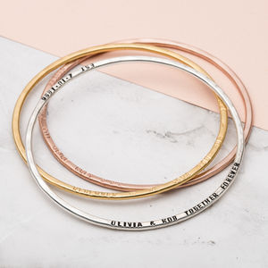 Personalised Message Bangle - bracelets & bangles