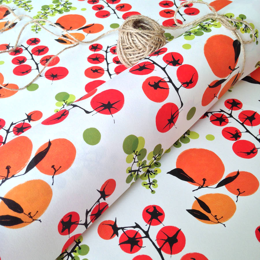 Garden Fruit And Vegetable Design Wrapping Paper