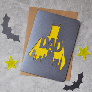 Who Is Batman? Greetings Card - father's day cards
