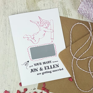 10 Cherub Save The Date Cards