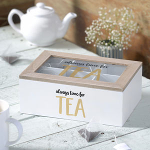 Wooden Tea Storage Box - storage & organising