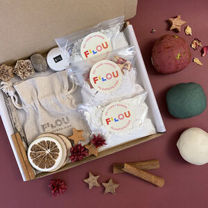Personalised Stamp And Christmas Playdough Making Kit