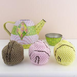 Crocheted French Fancy Fondant Cake Soft Toy