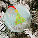 Personalised Christmas Tree Glass Hanging Decoration