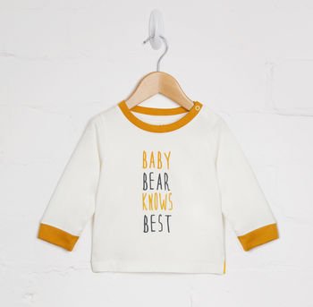 Baby Bear Knows Best Tee