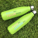 Neon Green Thermal Water Bottle