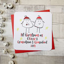 Personalised 'First Christmas As Grandparents ' Card