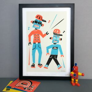 'Robotics' Fine Art Limited Edition A3 Giclee Print
