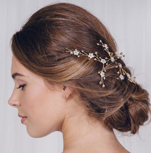 Small Gold, Silver Or Rose Gold Wedding Hair Vine Ivy - wedding jewellery