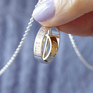 The Day My Life Changed Silver And Gold Necklace - best mother's day gifts