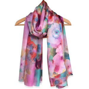 Large 'Debussy' Pure Silk Scarf - scarves