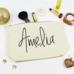 Personalised Name Make Up Case - bridal beauty