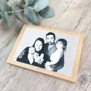 Solid Oak Photo Block - picture frames