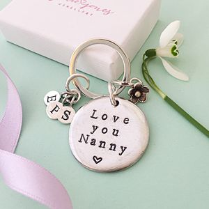 Personalised Nanny Keyring - women's accessories