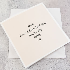 Dad Personalised Father's Day Card