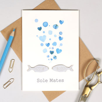 Personalised Solemates Valentine's Card