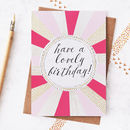 Happy Birthday Foiled Greetings Card
