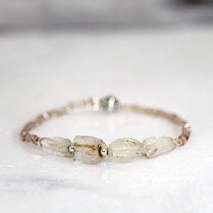 Rough Topaz Bracelet