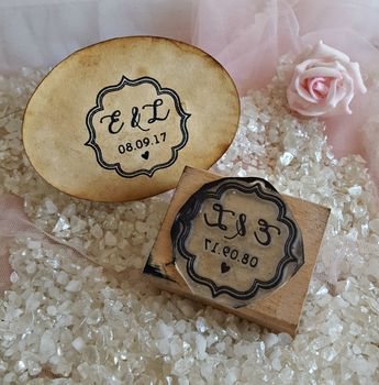 Personalised Initials Wedding Rubber Stamp