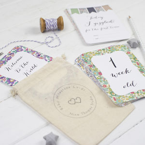 Floral Baby Milestone Photo Cards