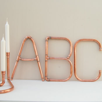 Copper Decorative Letters And Symbols Wall Art