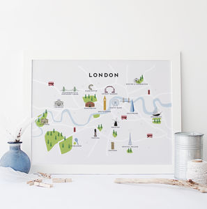 Map Of London Print - posters & prints