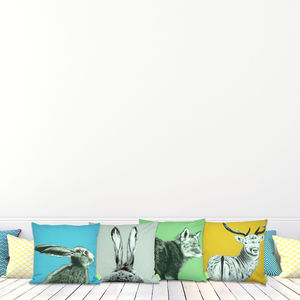 The Runners Number Five Hare Cushion - cushions