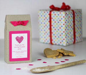 Personalised Heart Shortbread Biscuit Mix Party Bags - party bags and ideas