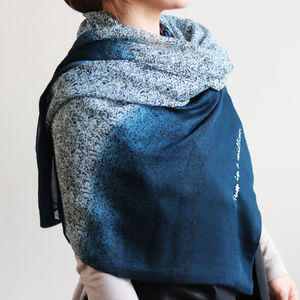 Personalised Ombre Print Scarf - gifts for friends
