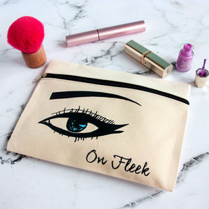 Personalised Eye Make Up Pouch - style savvy