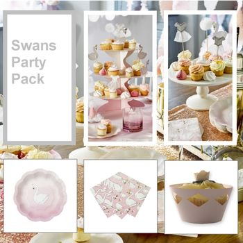Swan Lake Party Tableware Pack