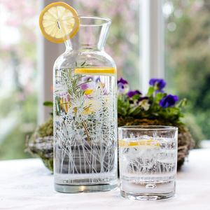 Floral Glass Carafe - summer pantry